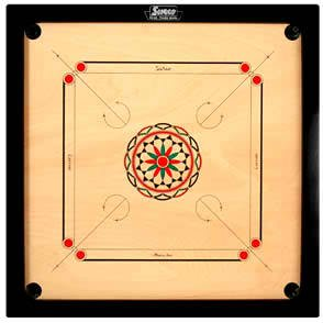 Surco Speedway Carrom Board with Coins and Striker, 4mm Full Size