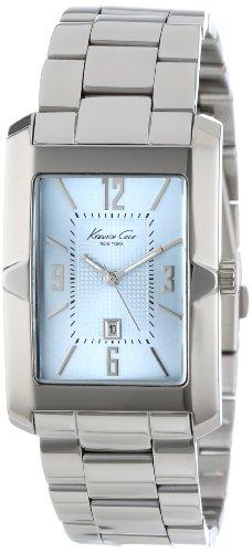 Kenneth Cole New York Men's KC9240 Classics Tank Analog 3 Hand Date Dimensional Bezel Bracelet Watch