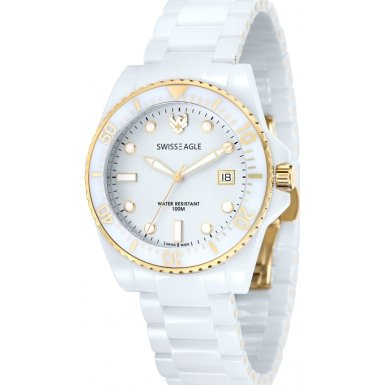 Swiss Eagle Reloj de cuarzo Dive Blanco 40  mm