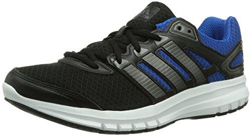 adidas Duramo 6, Herren Laufschuhe, Schwarz (Black 1 / Carbon Met. S14 / Blue Beauty F10), 44 2/3