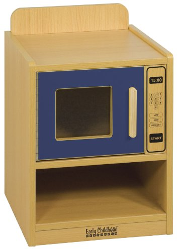 picture ECR4Kids Play Kitchen Microwave Oven, Blue