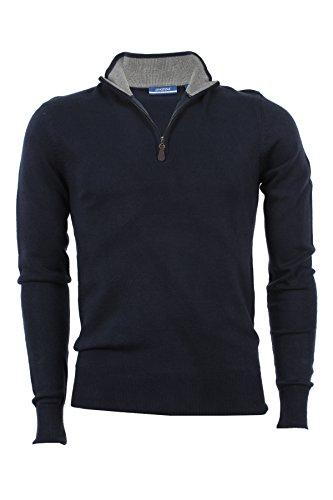 Pullover mezza zip Aigle blu, XXL