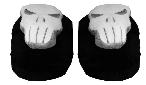 Cheap The Punisher Skull Logo Marvel Comics Adult Plush Mens Slippers (ECMA7024)
