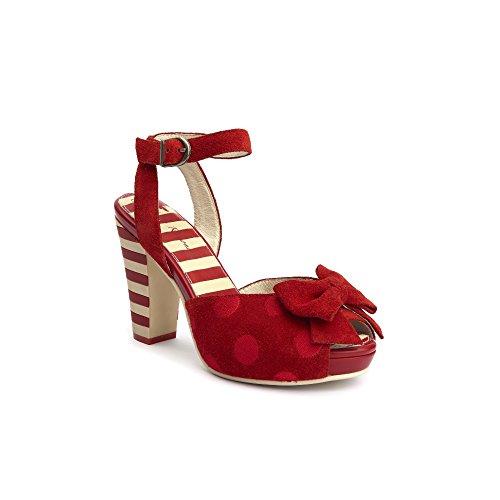Lola Ramona, Sandali donna Rosso rosso, Rosso (rosso), 37 EU
