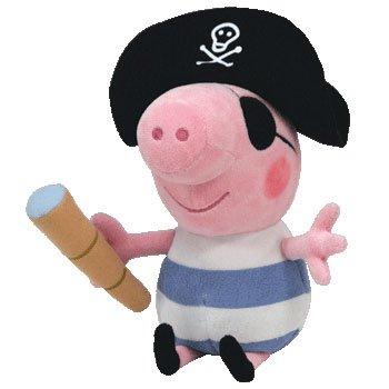 Peppa Pig Pirata George - Peluche de 16cm