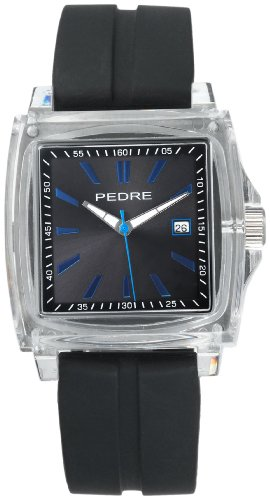 Pedre Men's 0570CLX Sport Clear Plastic Rubber Strap Watch