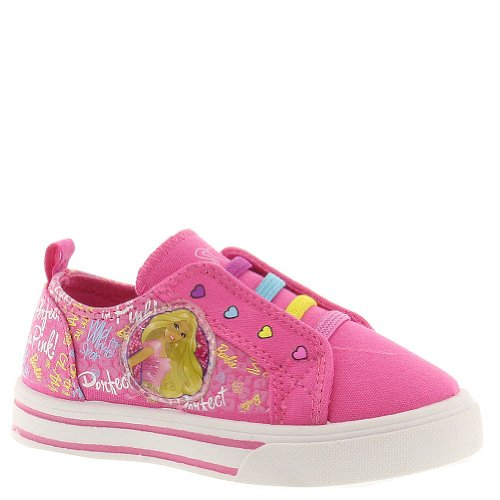Mattel Toddlers/Little Kids Barbie Canvas Slip On Pink Multi Size 10 front-851371