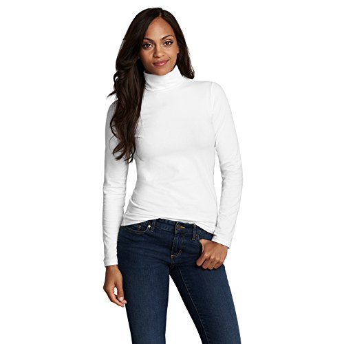 Eddie Bauer Women's Knit Turtleneck, White M