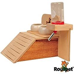 Rodipet® Futterbar inkl. 2 Keramikschalen & Tränke