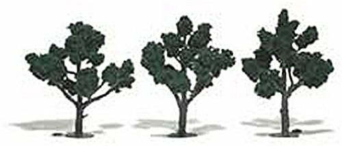 "Dark Green Ready Made Trees 4"" - 5"" Woodland Scenics"