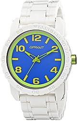Sprout Men's ST/7010BLWT Blue Dial White Corn Resin Bracelet Watch