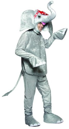 Circus Elephant Animal Gray Costume Adult