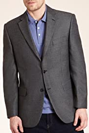 Soft Touch Notch Lapel 2 Button Jacket [T19-5146-S]