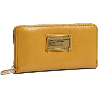 Marc Jacobs Classic Q Large Zip Around Wallet Cashew