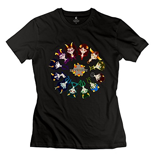 Geek Homestuck Hivebent Betas Clock Starsign Women's T-shirt Black Size L (Tablet Daewoo compare prices)