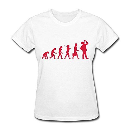 Zhitian Women'S Evolution Man Drink T-Shirt - Xs White
