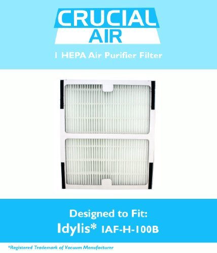 Idylis HEPA Air Purifier Filter, Fits Idylis Air Purifiers IAP-10-125, IAP-10-150, Model # IAF-H-100B, Designed & Engineered by Crucial Air