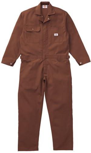 Dickies(ディッキーズ) ストライプツヅキ服 ブラウン 3Lサイズ