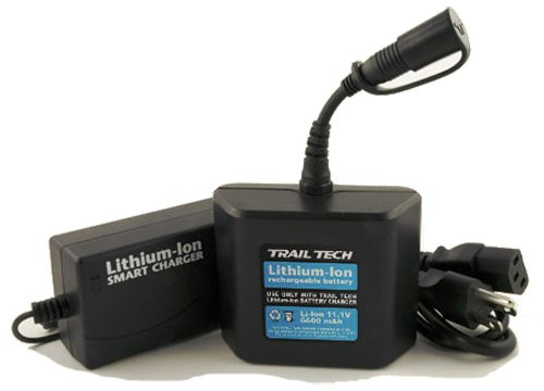 Trail Tech 6600-LIC Black Li-Ion Helmet Light Battery and Charger