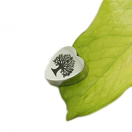 Urna Cremazione Gioielli Croce Collana In Acciaio Inox-Memorial ceneri, acciaio inossidabile, colore: heart-life of tree, cod. Urn030-heart life of tree