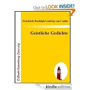Geistliche Gedichte (German Edition) Friedrich Rudolph Ludwig von Canitz