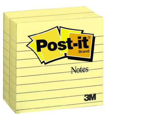 Post-it Notes, 4 x 4-Inches, Canary Yellow, Lined, 300-Sheets/Pad, 2-Pads/Pack cute kawaii memo pad post it cartoon gudetama sticky notes writing pads stationery school supplies free shipping 194
