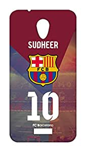 Customised Barcelona Football Club Desing mobile case for Micromax Canvas PACE Q416 - Hard Case Back Cover - Printed Designer - FCB BARCA - MQ416BRCMIDCST9