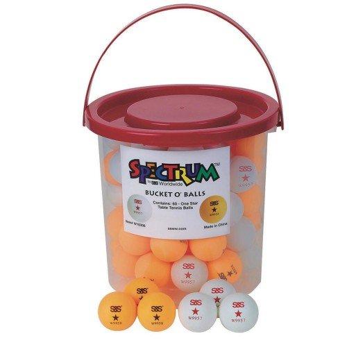 Spectrum Bucket O' Table Tennis Balls (bucket of 60)