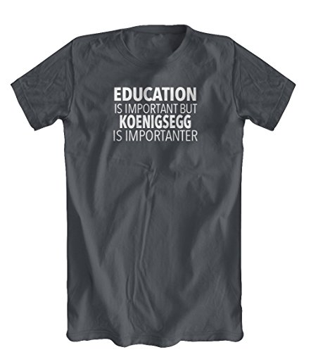 education-is-important-but-koenigsegg-is-importanter-t-shirt-mens-charcoal-x-large