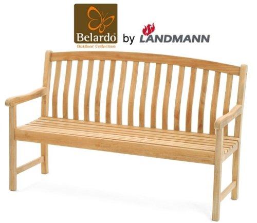 Belardo by Landmann Teak Gartenbank 150cm 3-Sitzer Holzbank Sitzbank Holz Bank günstig