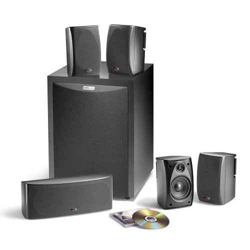 Polk Audio RM6750 5.1 Channel Home Theater Speaker System (Set of Six, Black)