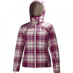 Helly Hansen Women's JPN Check Jacket, Hot Pink, Large