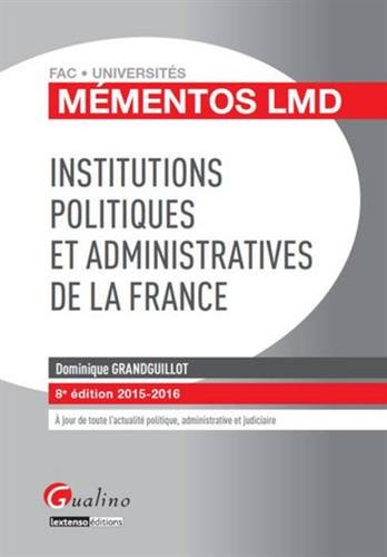 Institutions politiques et administratives de la France 2015-2016