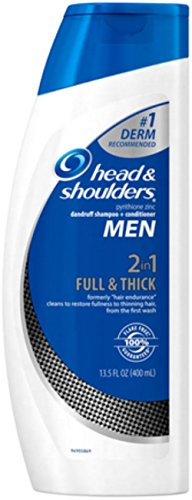 Head & Shoulders Full & Thick 2-in-1 Dandruff Shampoo + Conditioner for Men, 13.5 oz (Pack of 2) (Head And Shoulders Men compare prices)