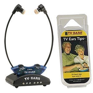 TV Ears 2.3 MHZ Wireless Headset System with 10 Replacement Ear Tips