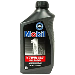 Mobil 1 20w 50 4 Cycle V Twin Synthetic Motor Oil 98hc76 Automotive