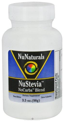NuNaturals - NuStevia NoCarbs Blend - 3.5 oz. - 1
