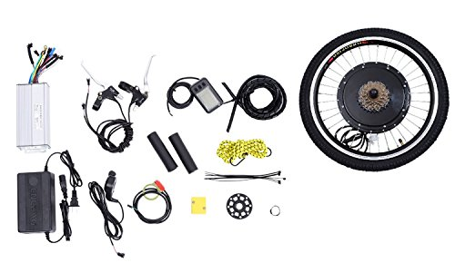 Discover Bargain Rear Wheel 48V 1000W Electric Battery Powered Bicycle Motor Conversion Kit w/ LCD D...