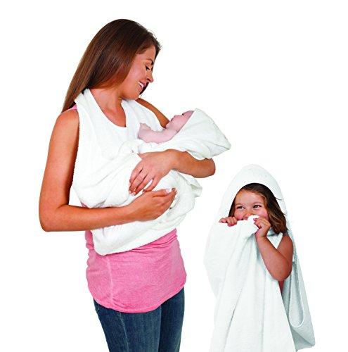 Clevamama Splash And Wrap Baby Bath Towel (White)