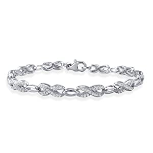 3/4ct tw Diamond Tennis Bracelet Crafted in Sterling Silver