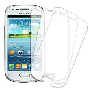 MPERO 3 Pack of Clear Screen Protectors for Samsung Galaxy S III S3 Mini