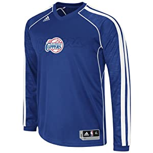 NBA Los Angeles Clippers On-Court Long Sleeve Shooter, Small by adidas