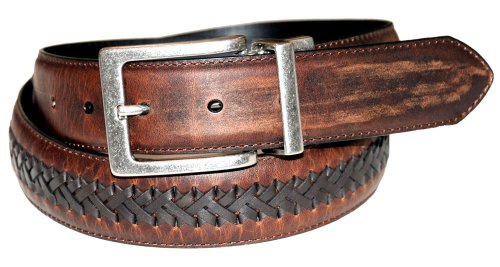 Columbia Men's 35mm Genuine Reversible Leather Laced Belt