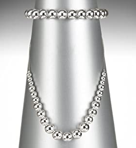 Silver Plated Bauble Bead Necklace