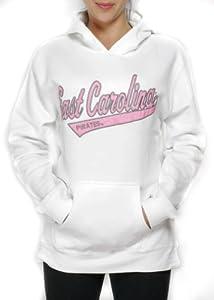 NCAA East Carolina Pirates Hoodie Hooded Sweatshirt (White - ) by J America Sportswear