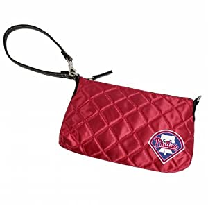 MLB Philadelphia Phillies Retro Quilted Wristlet, Classic Red by Littlearth