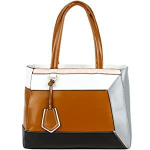Jane Colorblock Bag - Brown Multi