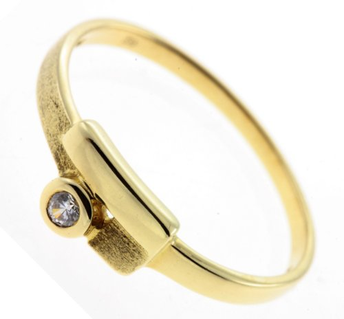 Damen Ring echt Gold 333 8 Karat Zirkonia 7114