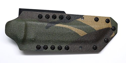 "Custom Dutch Woodland Camo Color .08"" Kydex Sheath For Cold Steel Knives Master Tanto Knife"