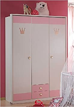babyzimmer kinderzimmer cinderella 7 teilig wei rosa db96. Black Bedroom Furniture Sets. Home Design Ideas